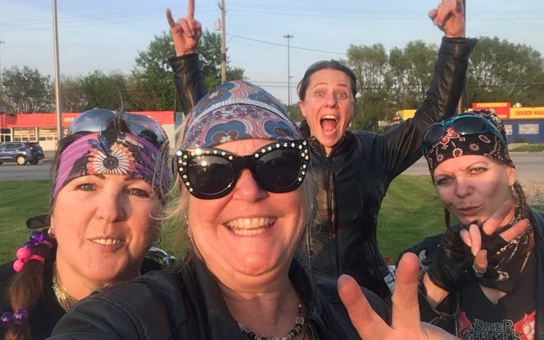 The Softail Sisters Ride to the Springfield Mile